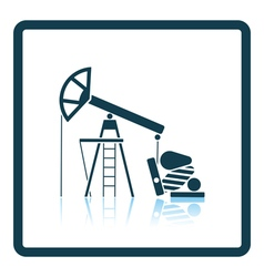 Oil pump icon vector
