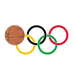 Olympic basketball vector