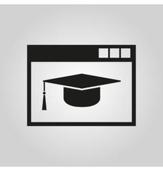 Online education icon design symbol web vector