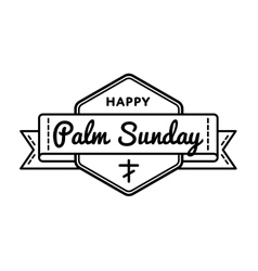 Palm Sunday holiday greeting emblem vector image
