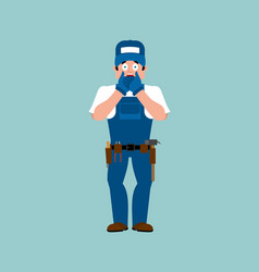 plumber omg fitter oh my god service worker vector image