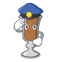 Police irish coffee character cartoon vector
