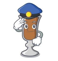 police irish coffee character cartoon vector image