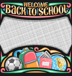Poster for school vector