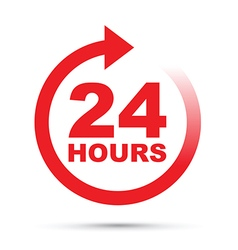 Red 24 hours vector