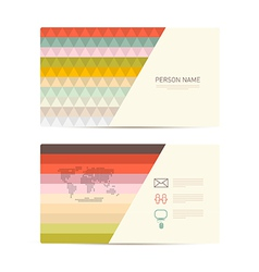 Retro Paper Business Card Template vector image