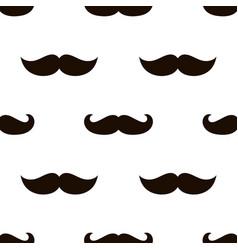 Seamless mustache pattern image vector