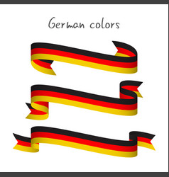 Set of three ribbons with the german tricolor vector