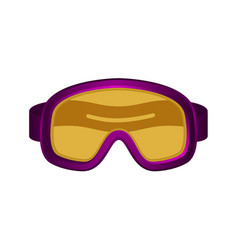 Ski sport goggles in dark purple design vector
