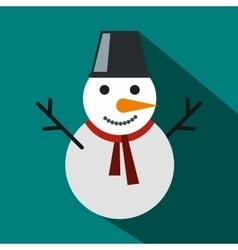Snowman icon flat style vector