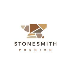 Stone smith logo icon vector
