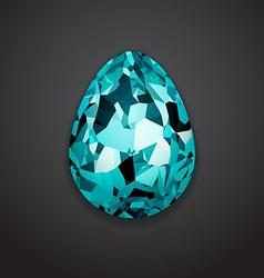 Stylish creative crystal easter egg Logo mock up vector