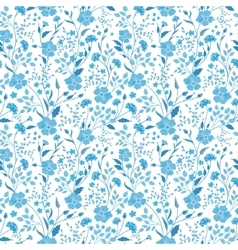 sunny pastel floral print seamless background vector image