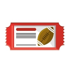 Ticket of American football design vector