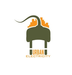 urban electricity design template vector image