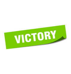 Victory sticker victory square sign victory peeler vector