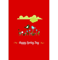 With happy spring and vector