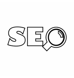 Word SEO icon outline style vector