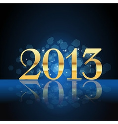 2013 year gold on blue vector image