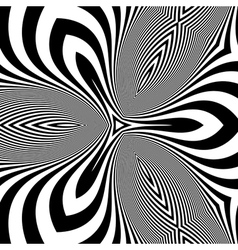 Black and White Abstract Striped Background vector image