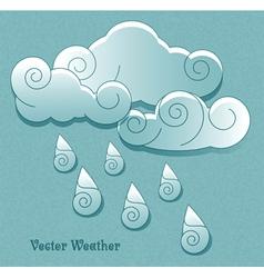 Cloud with rain drops vector image