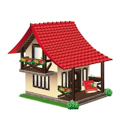 cozy little house vector image