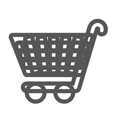 grayscale contour with shopping cart vector image