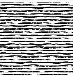 hand drawn grunge ink strokes on white seamless vector image
