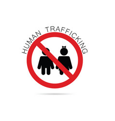 human trafficking sign vector image vector image