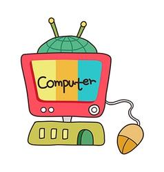 icon computer vector image vector image