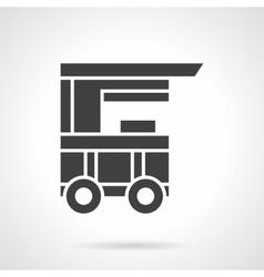Kiosk on wheels black glyph style icon vector image