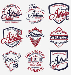 Athletic set of 9 vector