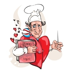 Chef cook man vector image vector image