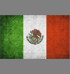 Flag of Mexico Mosaic vector image vector image