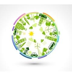 Green Eco Planet vector image vector image