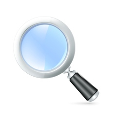 Magnifying lens icon vector image vector image