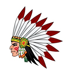 Native indian people vector