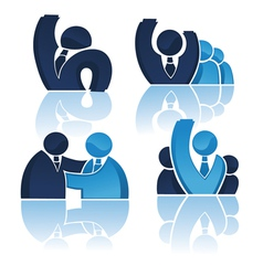 Office team and successful business vector