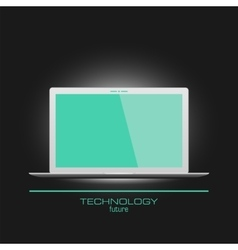 Realistic laptop with empty screen vector image