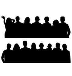 silhouettes man and women vector image vector image