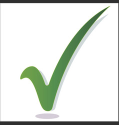 green check mark isolated vector image