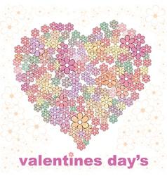 valentines day design one vector image