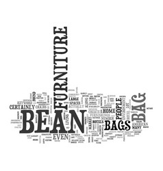 bean bag furniture text word cloud concept vector image vector image