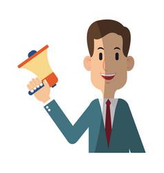 businessman cartoon icon vector image