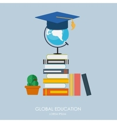 Global Education Concept Trends and innovation in vector image