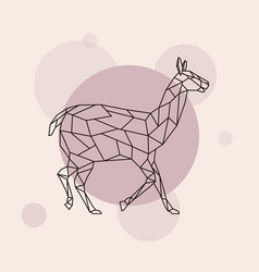 lama side view geometric style vector image vector image