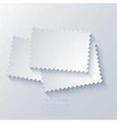 modern postage background vector image vector image