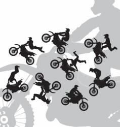 motocross rider jump vector image vector image