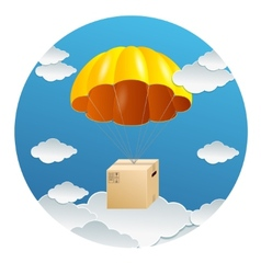 Parachute with a gift box vector image