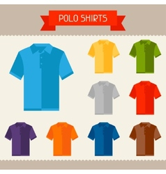 Polo shirts colored templates for your design in vector image vector image